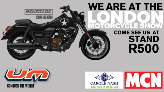 We are at the Carole Nash MCN London Motorcycle Show 2017!