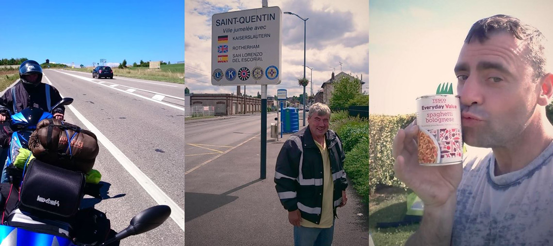 On the road | Entering Saint-Quentin | Enjoying home comforts