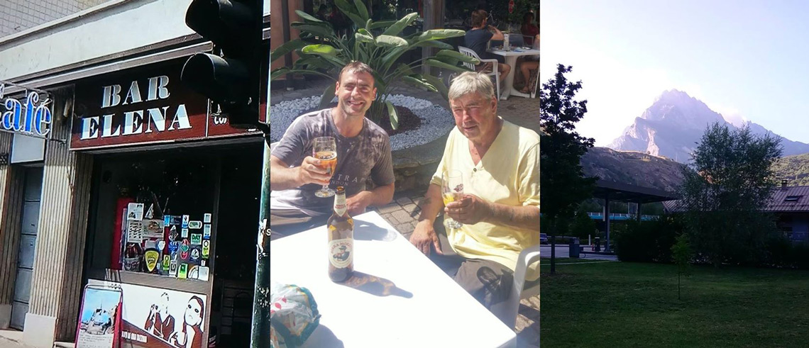 Bar Elena in Turin | Enjoying a well deserved drink | Travelling through the Alps